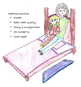 A Good Bedtime Routine helps your Child look Forward to Going to Sleep.