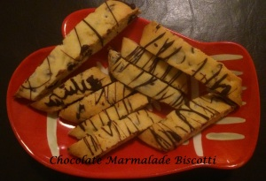 Chocolate Marmalade Biscotti